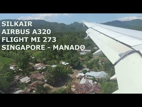 Silkair Airbus A320 Flight MI 274 Singapore - Manado Indonesia