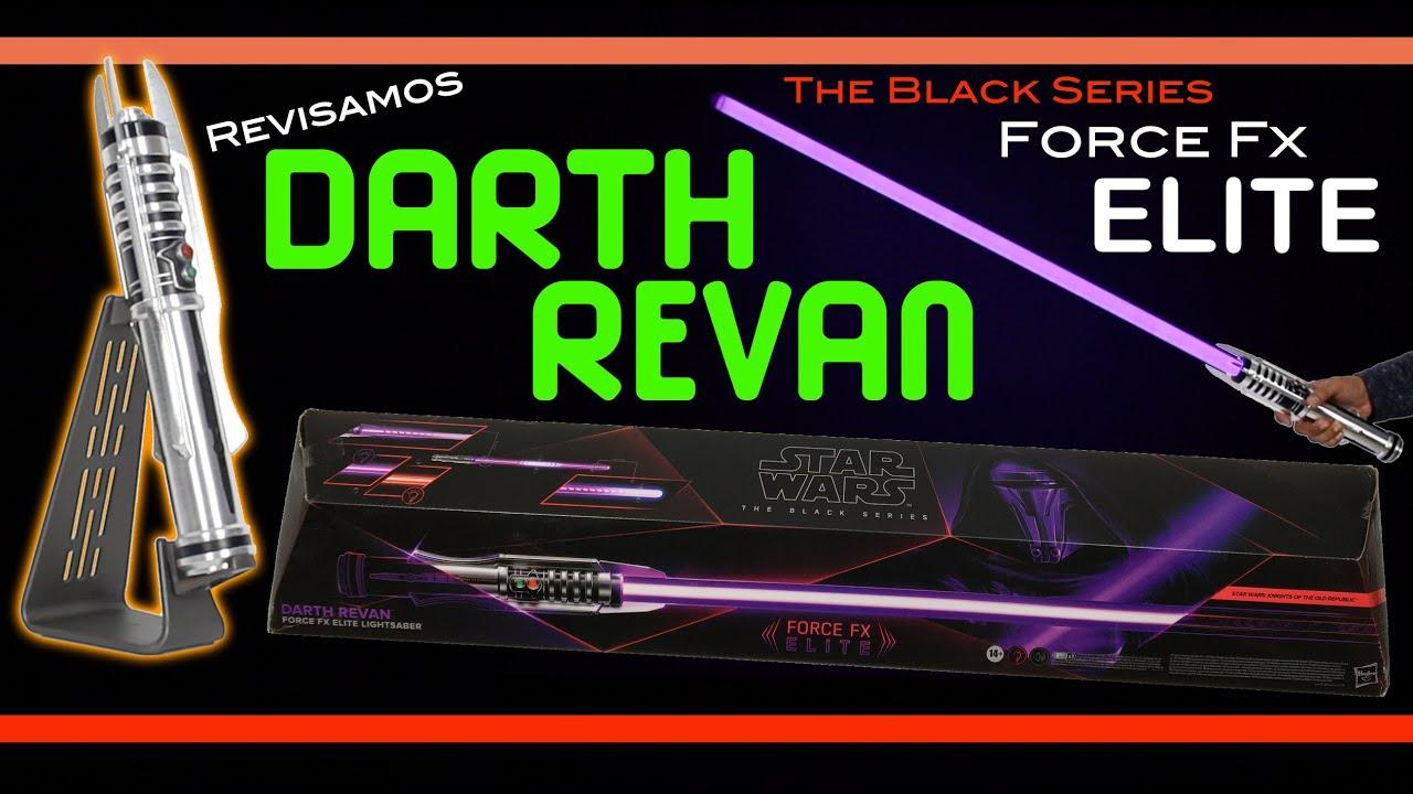 Sable de Luz Darth Revan Force Fx Elite The Black Series Star Wars Hasbro en Español