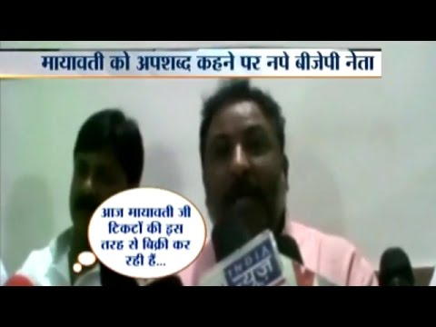 BJP Leader Dayashankar Singh Uses Derogatory Slur against Mayawati