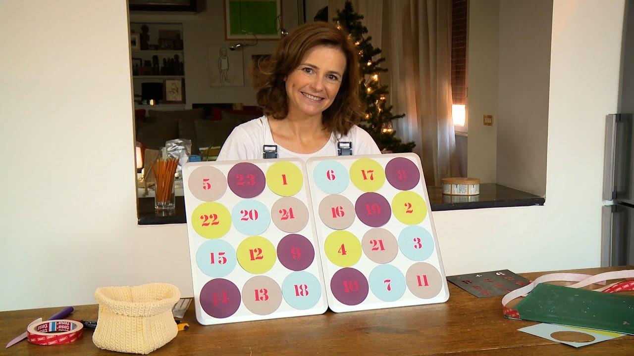 Calendario dell avvento con teglie per muffin for Youtube decorazioni natalizie