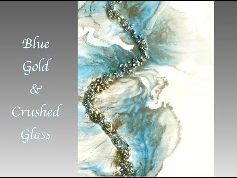 Resin Art Crushed Glass & Alcohol Ink Embellishments