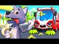 Street Sweeper and Big Bad Wolf | Cars for Kids | Monster Truck | Kids Songs | Kids Cartoon |BabyBus