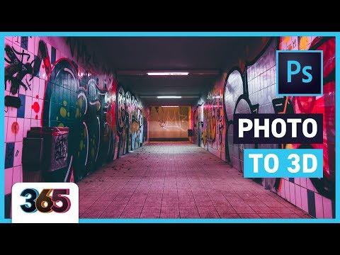 ? Photo to 3D | Photoshop Tutorial #175/365 thumbnail