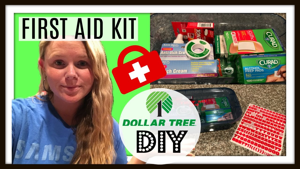 Dollar Tree Diy First Aid Kit Youtube