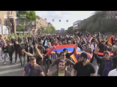 Ситуация в Ереване, где проходят акции протеста