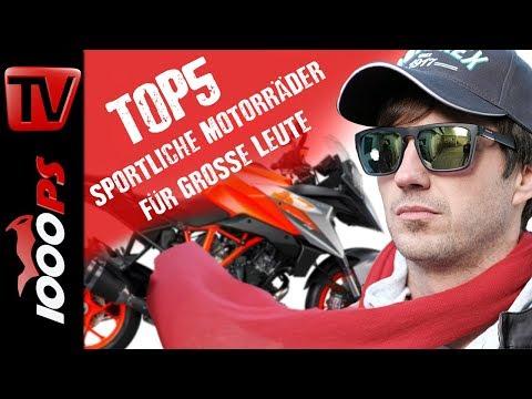 Top 5 - Sportliche Motorräder für grosse Leute - Gebrauchtkauf Beratung