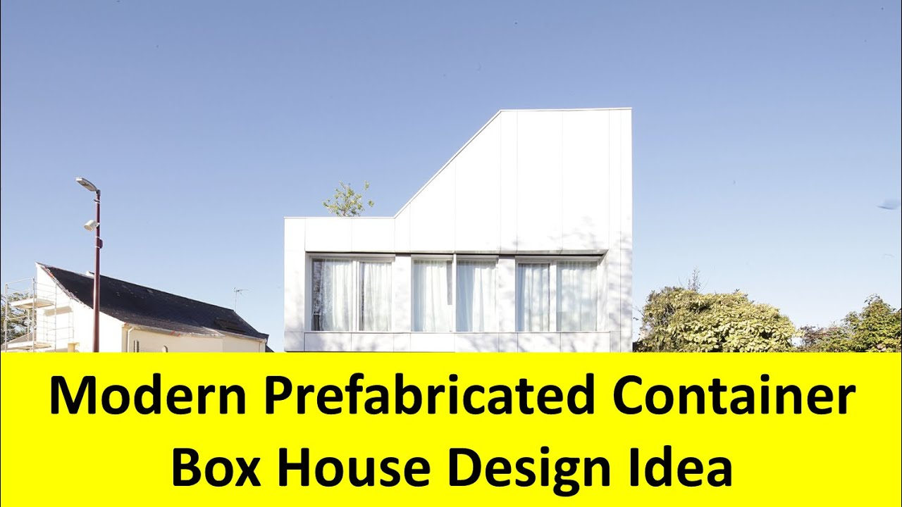Modern Prefabricated Container Box House Design Idea - YouTube on icon house, chart house, label house,