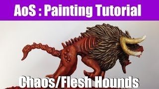 Speed Painting Techniques - How to paint W40K Chaos / Flesh Hounds fast | HD