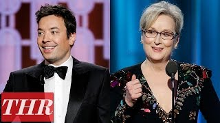 Politics 'Trump' The 2017 Golden Globes: Jimmy Fallon, Meryl Streep & More