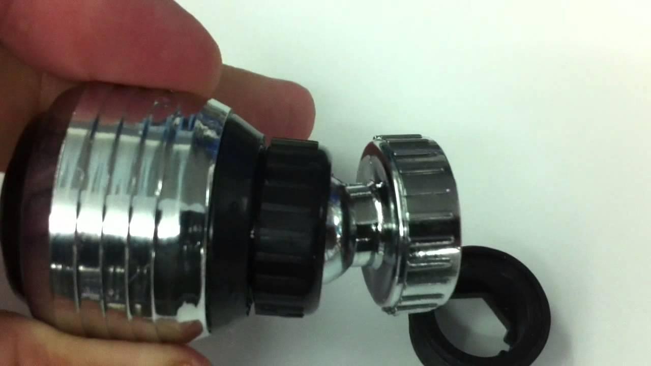 Work of Faucet aerator(perlator) 2 function - YouTube