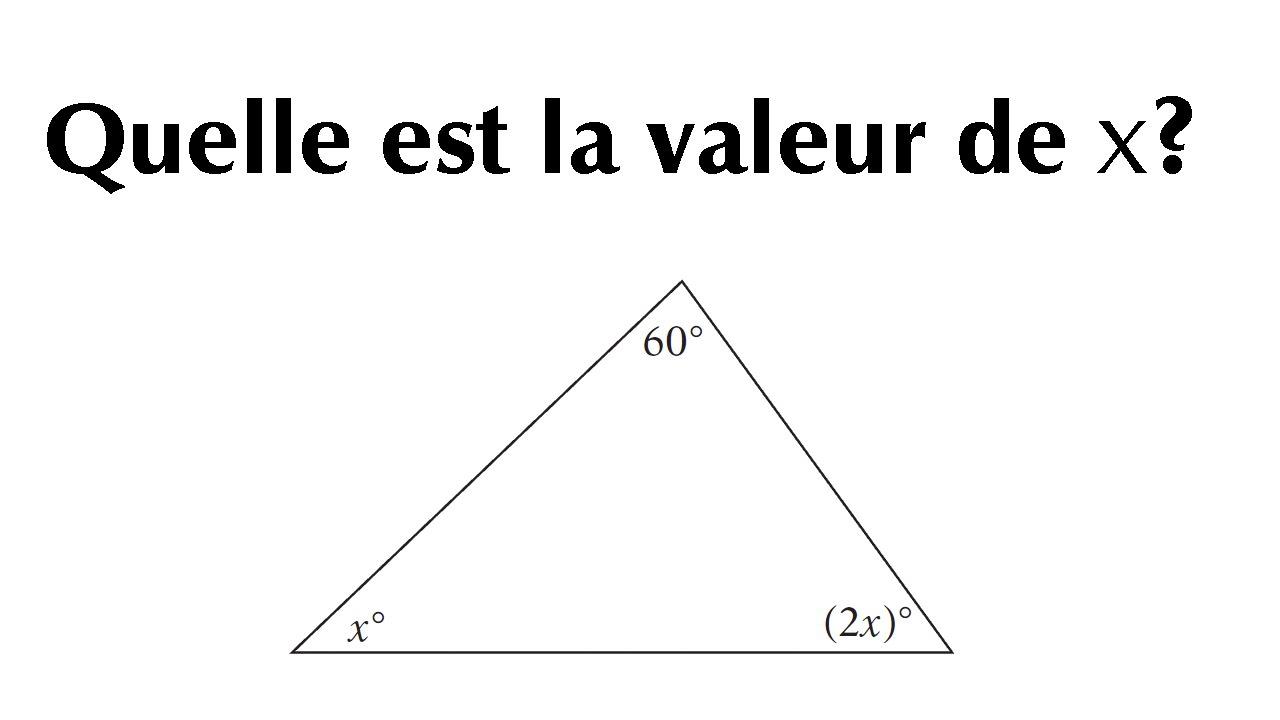 exercice - angle d u0026 39 un triangle