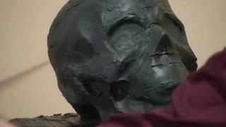 Уроки скульптуры и рисунка: лепка черепа человека, детализация, часть 1