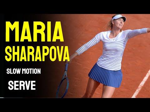 Maria Sharapova Slow Motion Serve Compilation Youtube