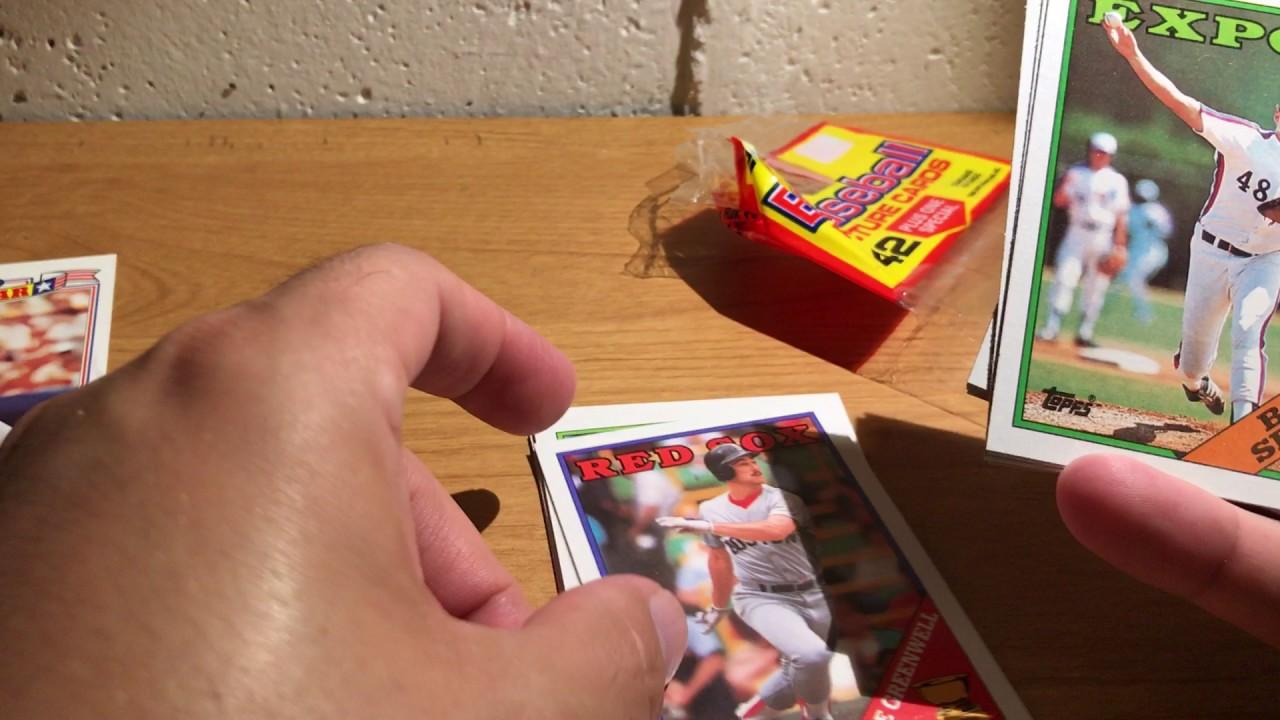 Asmr Whisper And Gum Chewing Opening 1988 Topps Rack Pack Baseball Cards