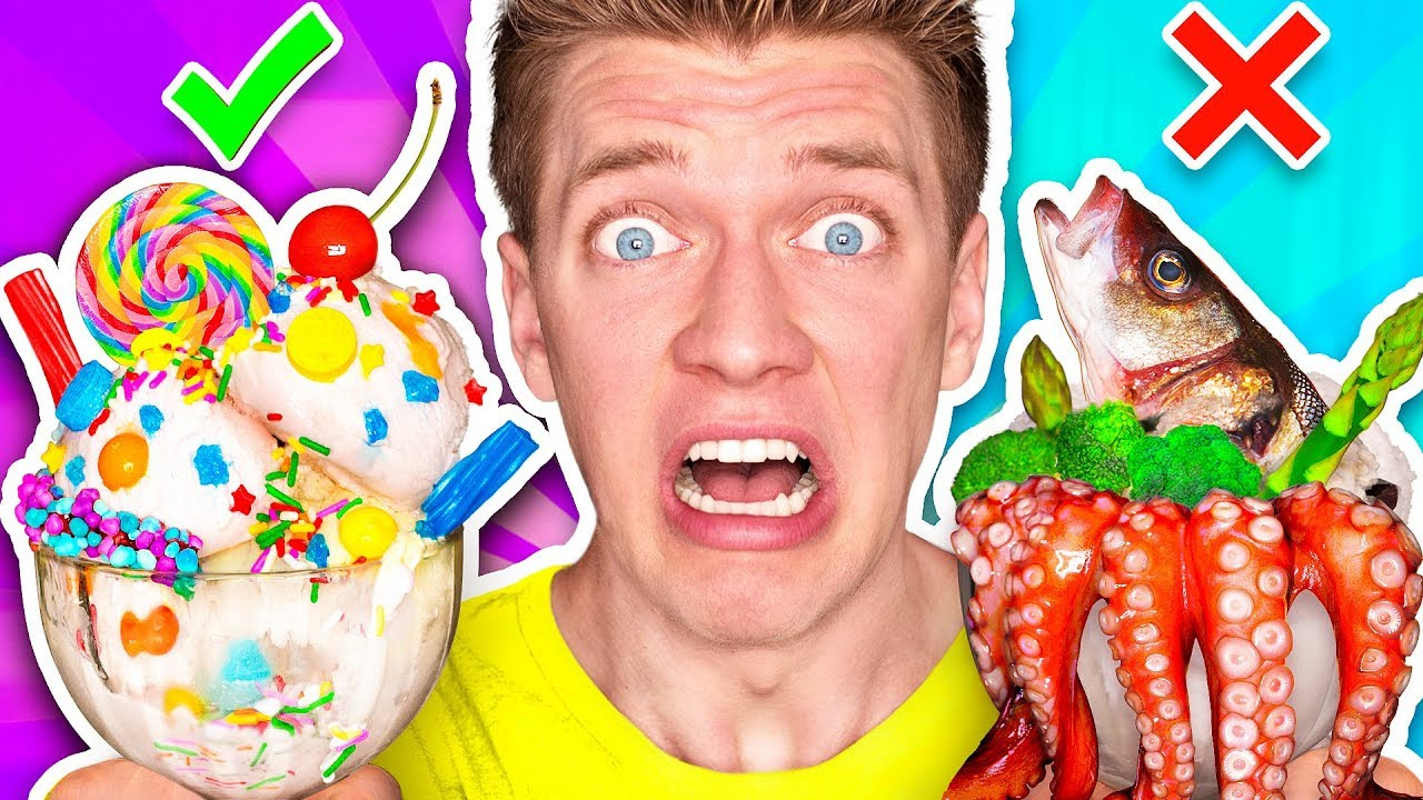 ICE CREAM vs REAL FOOD CHALLENGE!!! *EATING GIANT CANDY* Learn How To Make DIY Edible Gummy Sundae