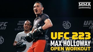 UFC 223: Max Holloway Open Workout - MMA Fighting