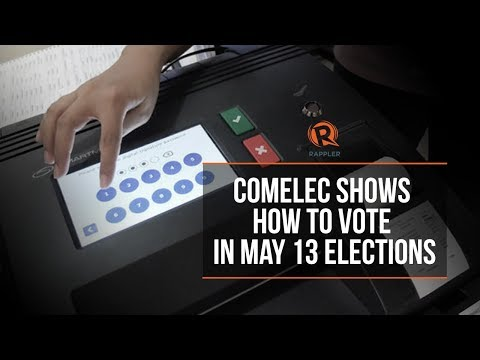 Comelec shows how to vote in May 13 elections