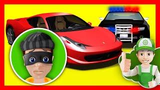 Мультик про полицейскую машину.  Винтик помогает полиции задержать преступника  - Хочу Знать Все