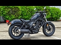 2017 Honda Rebel 300 Review of Specs   Motorcycle   Cruiser Walk Around   CMX300H Black