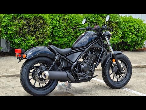 2017 Honda Rebel 300 Review of Specs   Motorcycle / Cruiser Walk-Around   CMX300H Black