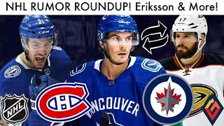NHL Rumor Roundup! Eriksson For Kesler, Point, Jets & Habs! (Hockey Trade Rumours Buzz & Talk 2019)