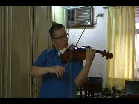 Calvin Lee random practice of Mendelssohn Violin Concerto Movement #3 with music minus one