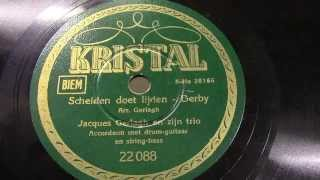 Jaques Gerlagh en zijn trio. (Eddy Christiani gitaar): Scheiden doet lijden. 1940.