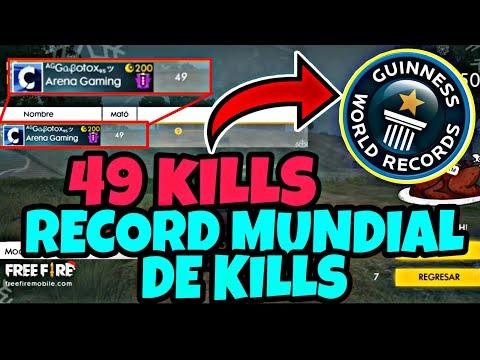 RECORD MUNDIAL / WORLD RECORD DE FREE FIRE CON 49 KILL - ¡SUPER EPICO!