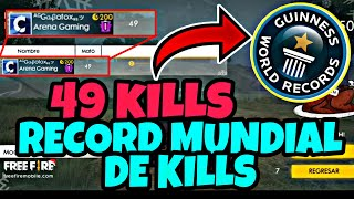 RECORD MUNDIAL / WORLD RECORD DE FREE FIRE CON 49 KILL - ¡SUPER EPICO!