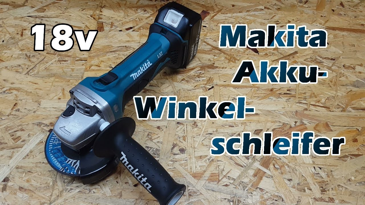 makita akku winkelschleifer flex 18v dga452z review youtube. Black Bedroom Furniture Sets. Home Design Ideas