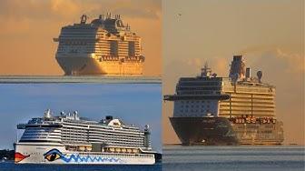 3 Kreuzfahrtschiffe in Kiel zur Kieler Woche | Aida,Tui und Msc| HD- Qualität
