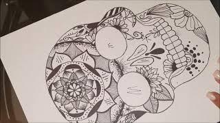 HOW TO DRAW mandala skull