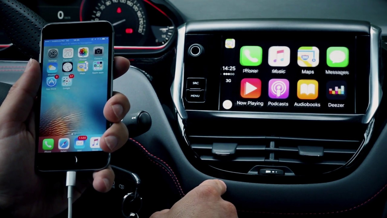 how to use apple carplay on peugeot 208 gti youtube. Black Bedroom Furniture Sets. Home Design Ideas