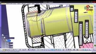 Catia v5 - Bench grinder using Sketch Tracer part 1