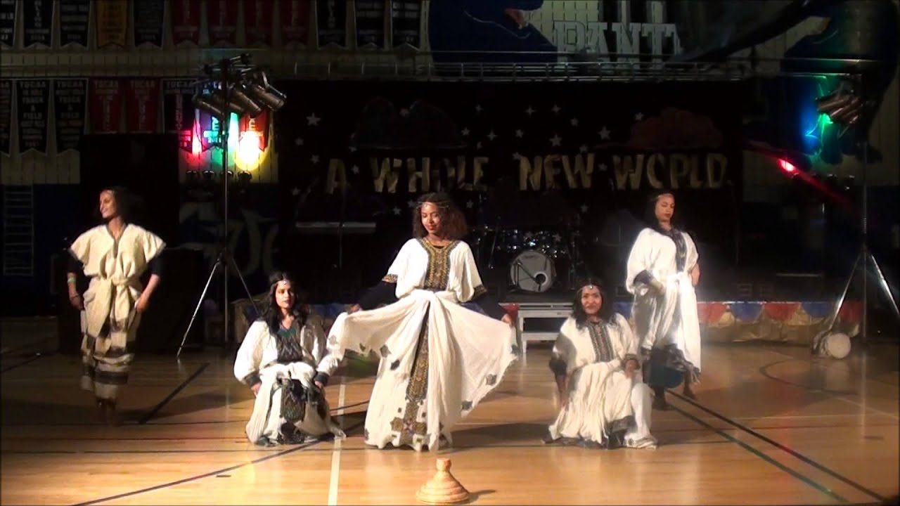 Download Ethiopian students showcasing their cultural dance in Canada
