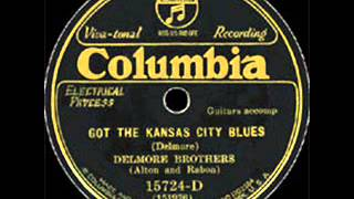 Delmore Brothers(Alton and Rabon) Got The Kansas City Blues COLUMBIA 15274 D