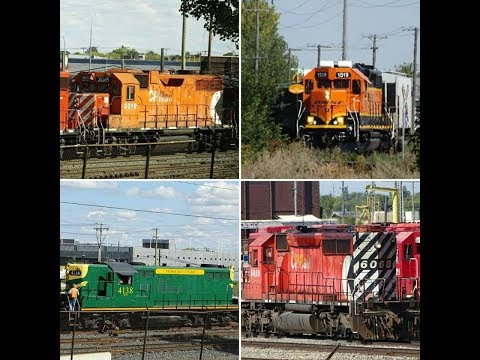 Trains in Winnipeg : Vintage GP9, Rare CP SD40-2, GP38AC & SD90MAC`s, BNSF Manitoba & More!