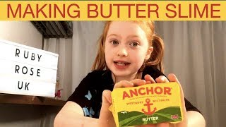 DIY Butter Slime  Making Clay Slime  Ruby Rose UK