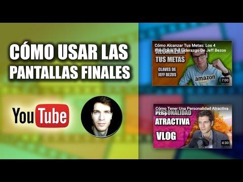 Cómo Poner Enlaces en Tu Canal de YouTube (Pantallas Finales 2016)