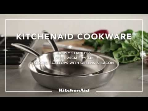 KitchenAid® Cookware Tri-Ply Stainless Steel Frypan