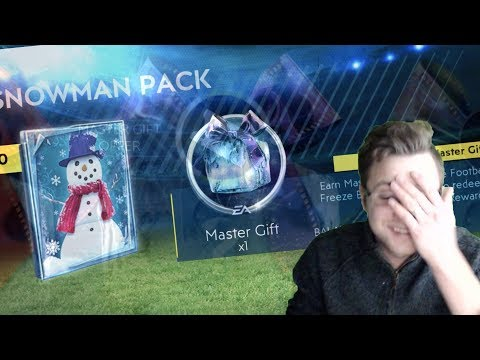 We Actually Pulled a Master Gift in FIFA Mobile 19! 12 Snowman Gift Packs! Snowflake 2 Walkthrough