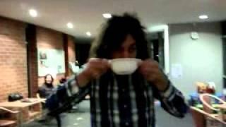 Julian Eating Horse Radish