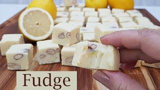 Fudge de Limão Siciliano e Amêndoas que derrete na boca – Faça e Venda
