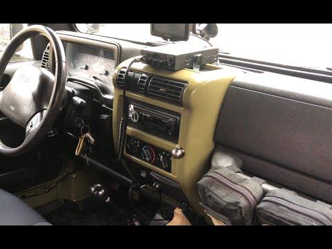 DIY OVERLAND | CB Radio Install Jeep Wrangler