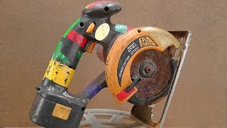 Power Cutter - Circular Saw Restoration - National EZT502 My Joy With Li-Ion Battery Pack 12V4000mAh