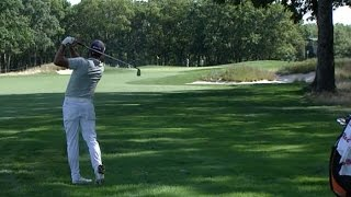 Rickie Fowler hits beautiful approach to set up eagle at The Barclays
