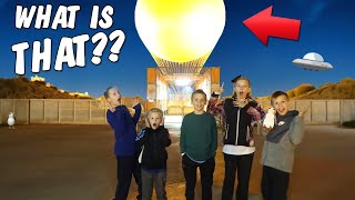 Crazy UFO Sighting During Secret Mystery Hunt *SKIT*