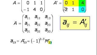 Нахождение обратной матрицы с помощью присоединенной (2)