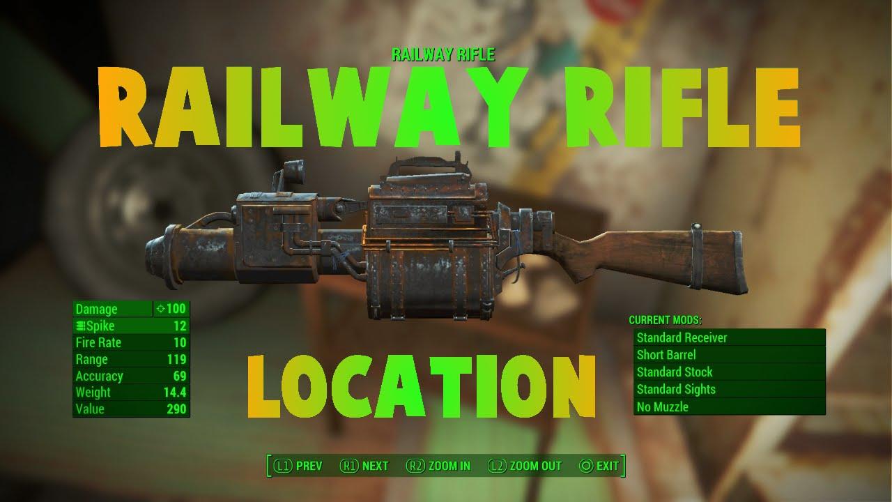 fallout 4 railway rifle location big john s salvage youtube