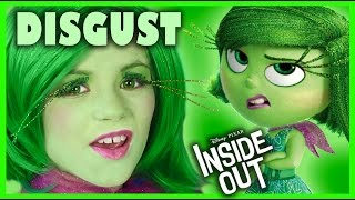 INSIDE OUT DISGUST MAKEUP TUTORIAL!  | DISNEY PIXAR COSPLAY! | KITTIESMAMA
